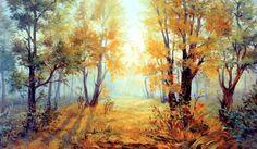 Татьяна Домбровская Осень: холст, акрил, масло, 60x80, 2009 http://www.arts-e.ru/2014-11…/zhivopis-2009/335-img-2009-002
