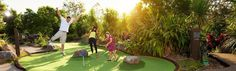 Victoria Park's Brisbane putt putt course is a challenging and exciting 18 hole mini golf course with magnificent views, and it's fully licensed!