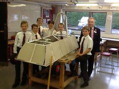 Prep School pupils begin to build their Greenpower Race Car.