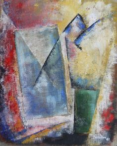 Голубой прямоугольник (мой ответ Малевичу) / The Blue Rectangle (my answer to Malevich)  Oil on canvas, 35x25
