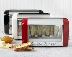 A see-through toaster makes burnt toast a thing of the past.   27 Genius Solutions For Your Kitchen Woes