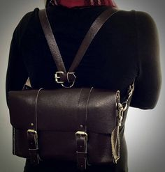 Leather satchel leather backpack mini leather by CEACustomDesigns