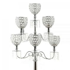 Wedding Candelabras - 36 Avril Crystal Candelabra Centerpiece - 9 Cups [403110-71802236 Candelabrum 36] : Wholesale Wedding Supplies, Discount Wedding Favors, Party Favors, and Bulk Event Supplies