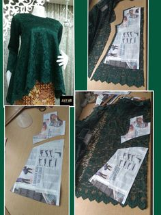 Costura facil Archives - Best Sewing Tips Frock Patterns, Dress Sewing Patterns, Blouse Patterns, Sewing Patterns Free, Clothing Patterns, Kebaya Brokat, Kebaya Dress, Pattern Draping, Model Kebaya