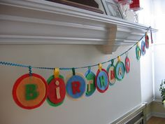 felt banner letters (change them around to say whatever you want- happy new year, happy...)