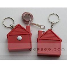 Custom Logo House Shape Red Plastic Tape Measure - TT1412181548