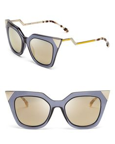 Fendi Mirrored Geometric Sunglasses | Bloomingdale's