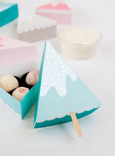 Snow Ice Cream Gift Box DIY