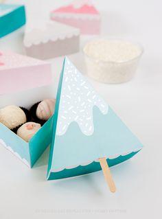 Snow Ice Cream Gift Box DIY