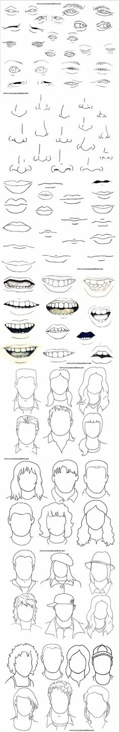 Different ways to draw human features