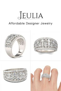 #Jeulia JEULIA Vintage Wedding Band For Women Baguette & Round Cut Creat. Discover more stunning Women's Wedding Bands from Jeulia.com. Shop Now!