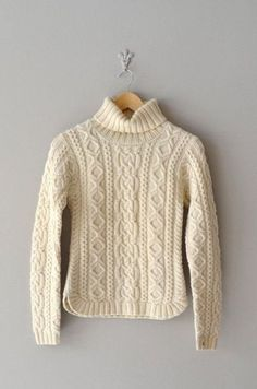 cable knit sweater / fisherman's sweater / cream by DearGoldencable knit fisherman sweater: I'll try to knit thisRound ribbed hem to keep in mind.I like the hem detail.Hug and Kiss Cable Cable Sweater, Cable Knit Sweaters, Knit Fashion, Pulls, Hand Knitting, Knitwear, Knitting Patterns, Knit Crochet, Clothes