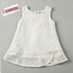 precious lace summer shift for a toddlerThis Pin was discovered by Tam Frocks For Girls, Kids Frocks, Dresses Kids Girl, Little Dresses, Cute Dresses, Girl Outfits, Baby Dress Patterns, Look Chic, Toddler Dress