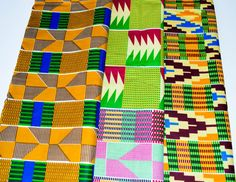 www.cewax.fr aime la boutique de TessWorldDesigns sur Etsy / 3 Half Yard Kente bundle  African neck tie  by TessWorldDesigns