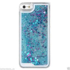 Glitter Stars Bling Dynamic Liquid Quicksand Case Cover For Apple iPhone 5 5S  Watch