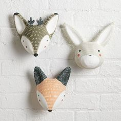 15 Decor Ideas For Creating A Woodland Nursery Design // These mounted animal heads add a whimsical touch to your walls and are neutral enough to match any color scheme.
