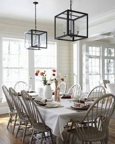 White panelled walls, white washed furniture