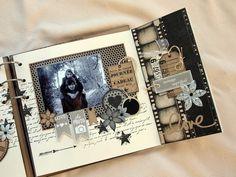 Scrapbooking Vintage, Album Photo Scrapbooking, Mini Scrapbook Albums, Scrapbook Paper Crafts, Diy Scrapbook, Scrapbooking Layouts, Scrapbook Pages, Scrapbook Background, Scrapbook Journal
