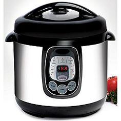 Electric 8-quart Pressure Cooker.  Drool.