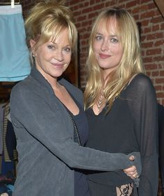 Melanie Griffith and daughter Dakota Johnson attend Danny Masterson And Rock Paper Photo Present 'Icons, Old & New' A Fine Art Photography Exhibit at Confederacy on June 2012 in Los Angeles -- Getty Images Celebrity Look Alike, Celebrity Kids, Celebrity Pictures, Hollywood Actor, Hollywood Glamour, Hollywood Actresses, Dakota Johnson Style, Dakota Mayi Johnson, Melanie Griffith