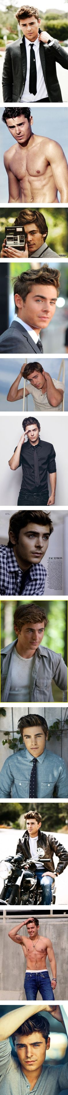 Zac Effron :) I would SOOOOO cast him as JAMES DEAN. He's the James Dean of this Century.