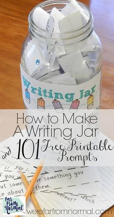 Make A Writing Jar (Plus 101 Prompts to Fill it