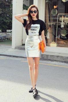 юбка фольга