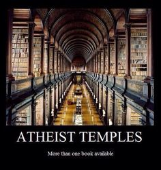 "Haha I wouldn't say that but good point anyway. This library looks like it would induce a more ""spiritual"" mindset then most churches anyway"