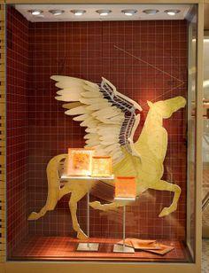 Hermes Window Display by Leaping Creative