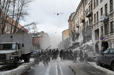 Echoes OfWar--Photographer Sergei Larenkov combines pictures of modern day Germany, Russia and Austria with photos taken from WWII. The results are both haunting and lovely.     These gave me chills.