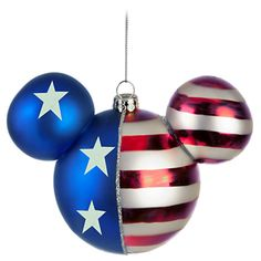Disney Americana Icon Mickey Mouse Ornament, Red White and Blue - Item No. 7509002522523P, $16.95 sale $10.99, 4 1/2'' H x 5 1/2'' W x 3 1/2'' D
