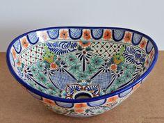 Gracia - MEX 7 Aufsatzwaschbecken oval aus Mexiko von Mexambiente