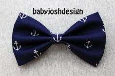 Navy Anchor Fabric Hair bow for teens or women,girls hair bows,basic hair bows , Hair Bows on Etsy, $4.99