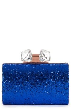 Ted Baker London 'Karsie' Glitter Frame Clutch available at #Nordstrom something blue clutch 225