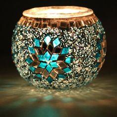 Multi Color Turkish Mosaic Candle Holder by anatolanmosacbazaar, $15.00