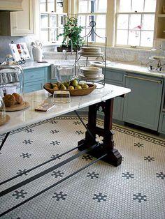 Tile floors!  Love the vintage look.