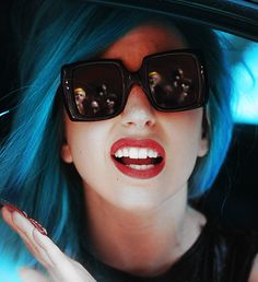 lady gaga, I want your blue hair