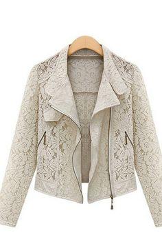 GORGEOUS White Lace Biker Jacket #white #lace #fashion