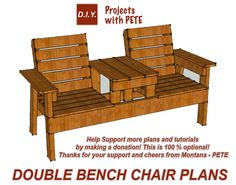 "Looking to build the perfect bench for your patio or porch? If so, check out these FREE PDF plans with 20 pages packed full of step by step instructions. You may donate if you'd like, but this is 100% optional! To donate simply enter an amount. Otherwise type a ""0"" in the price box and you will not be asked for any other information. (Please note it is pre-populated with 0+ but you must physically type a 0. The plans include detailed drawings of each step along with measurements..."
