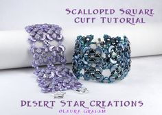Arcos Silky Scalloped Square Cuff Bracelet Tutorial, Two-hole Beadweaving Peyote…