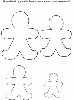 "Gingerbread man template: create out of fabric or paper; hide around the the house for a fun game of ""can't catch me""."