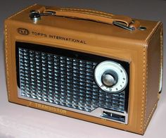 Vintage iTi Topps International 7 Transistor Radio, Model Q780, Broadcast Band Only (MW), Made In Japan, Circa 1960.