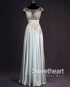 Sweetheart Girl | Charming chiffon and lace long prom dresses, evening dress | Online Store Powered by Storenvy