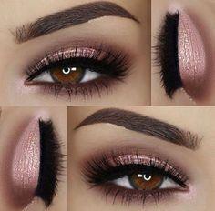 Pink Lips Makeup, Pink Eyeshadow, Glam Makeup, Eyeshadow Makeup, Makeup Tips, 2017 Makeup, Makeup Ideas, Eyeshadow Palette, Makeup With Pink Dress