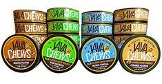 Java Chews, Premium Flavored Coffee Pouches, No Tobacco, No Nicotine Smokeless Alternative, Caramel, French Vanilla, Mocha, & Wintergreen Variety Pack (4 Cans) Instant Coffee, French Vanilla, Java, Coffee Cans, Pouches, Mocha, Caramel, Alternative, Canning