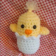 Free Ravelry Crochet Pattern: Chick in Egg pattern by Molly Zeigler