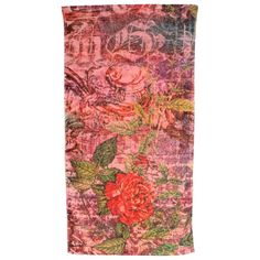 "FRESCO TOWELS FRENCH ROSE  Fresco Towels is a company engaged in the designed and production of luxury artistic towels. Created by a family of artisans with extensive experience in the textiles industry. The products meet the highest standards of quality.	  Turkish cotton 	Beach Towel: 40"" x 70"""
