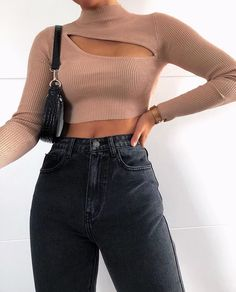 New Cute Outfits and Cool Fashion Look Ideas Of Popular Wear - Fashion Trends Style Outfits, Mode Outfits, Trendy Outfits, Hijab Fashion, Teen Fashion, Fashion Outfits, Womens Fashion, Fashion Trends, Fashion Ideas