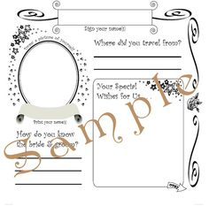 Wedding Guest Book Pages    Page Design From Wedding Prediction
