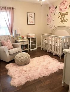 50 Inspiring Nursery Ideas for Your Baby Girl - Cute Designs You'll Love. Cute baby girl nursery room ideas Get inspired to prepare and create the perfect room for your baby girl. These baby girl nursery ideas can help you create a cute girly room style. Baby Nursery Decor, Baby Bedroom, Nursery Design, Baby Design, Baby Decor, Girls Bedroom, Baby Bedding, Baby Girl Rooms, Baby Girl Nursey
